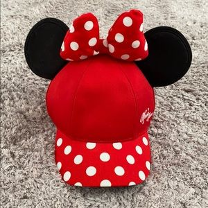Youth Minnie Mouse Baseball Cap with Ears